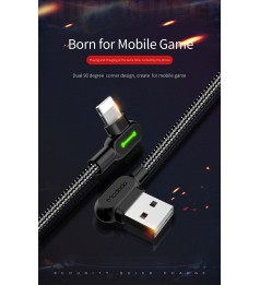 100% Original Mcdodo 1.8M Gaming Cable 90 degree L Style Type C & iphone