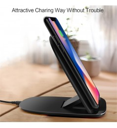 [3 Coil] Auto Disconnect Wireless Charger 2 in 1 Fordable
