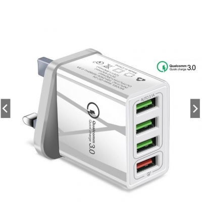 [Fast Shipping Local]Overcharge protection Wall Adapter Fast Charge 4 Port QC3.0 + Safety Protection