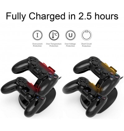 [YCC Latest Version] PS4 Controller Wireless Charger Stand Dock For PS4 PS Pro PS Slim