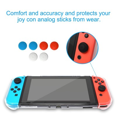 [Ultra-Slim]Nintendo Switch Transparent clean Crystal Protective Clear Hard Case Cover casing