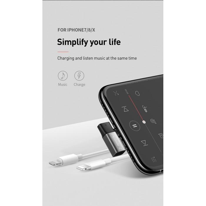 2019 SQUARE DUAL IPHONE]MCDODO LIGHTNING TO LIGHTNING AUDIO