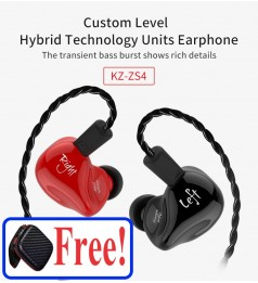 [1BA+1DD]KZ XZS4 BURST BASE HEADPHONE HIFI EARPHONE 2 DRIVER 3.5MM WITH MIC