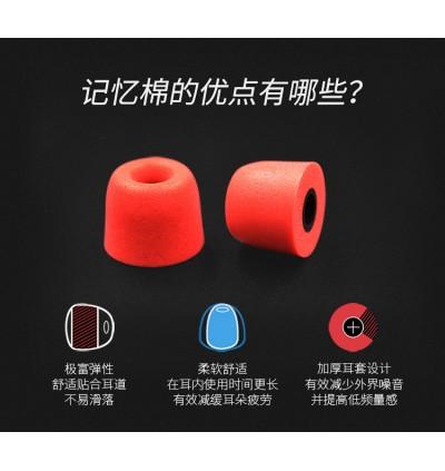 [100 Ori]KZ 3 Pairs (6pcs) Noise Isolating Memory Foam Eartips For In-Ear Earphone