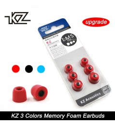 [100 Ori]KZ 3 Pairs (6pcs) Noise Isolating Memory Foam Eartips For In-Ear Earphone