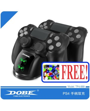 DOBE[LATEST VERSION] PS4 CONTROLLER WIRELESS CHARGER STAND DOCK FOR PS4 PS PRO