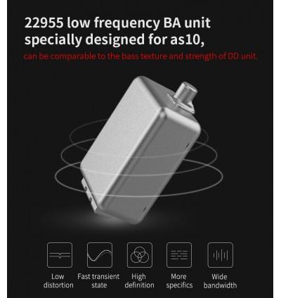 [5BA]KZ AS10 HEADPHONE 10 DRIVER HIFI EAR PHONE 5 BALANCE ARMATURE MIC