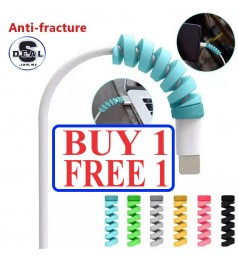 Spiral Spring Cable Protector Silicone Flexible Cable Wire Protector, Mouse Cable Saver Protector