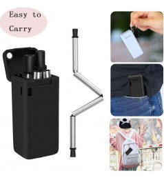 [Folding Reusable] STAINLESS STEEL STRAW SET METAL DRINKING REUSABLE RETRACT ABLE STRAW