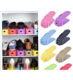 [Ready Stock] Shoe Storage Organizer Height Adjustable Shoe Rack