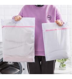 [Ready Stock] 40X50CM & 60X60CM Laundry Bag, Clothes Bra Underwear Nylon Mesh Net Washing With Zipper