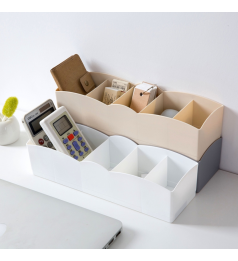 [Ready Stock] 5 Compartment Socks Underwear Bra Tie Panties Storage Box, Stocking Storage Box