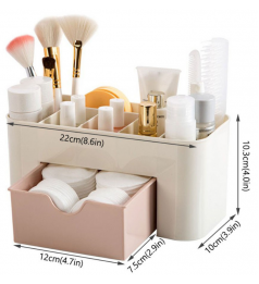 [Ready Stock] Drawer Bathroom Storage Kitchen Makeup Cosmetic Box Organizer Plastic Container