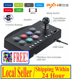 [PXN ARCADE STICK]PS4 NINTENDO SWITCH XBOX WINDOWS ANDROID ALL IN 1 FIGHTING STICK