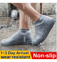 [IPX]Waterproof Shoes Covers Environmental Protection Reusable Anti-Slip Motorcycle Rain Boot Soft Cover Silicone Elastic