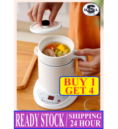 [Timer Milixiong]750ML 养生杯 煮粥 煲汤 HEALTH CERAMIC SOUP POT KETTLE ELECTRIC CUP BABY PORRIDGE BOILER COOKER