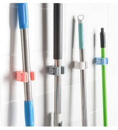 Bathroom Mop Hook Penyapu Penyangkut Broom Storage Rack Waterproof (White Colour)
