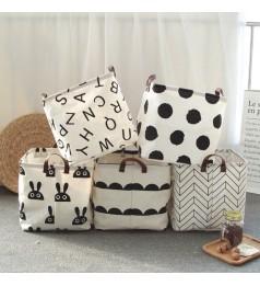Ready Stock Folding Square Fabric Storage Basket Home Bag Laundry Organizer