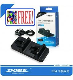 [DOBE TP4-002]PS4 ORIGINAL DOBE SLIM/PRO Dual Charging Dock BLACK