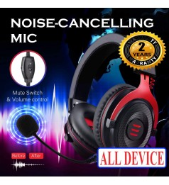 [7.1 + Noise Cancellation] EKSA E900 PRO USB Gaming Headset PS4 Headphones with Mic Over Ear Headphones PC,PS4,Laptop
