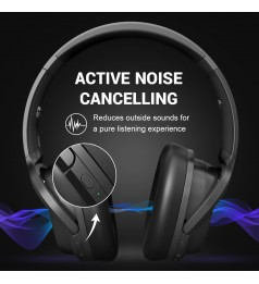[EKSA E5 Bluetooth 5.0] Headphones Active Noise Cancelling headphone Wireless Headset With Mic For Phones Foldable