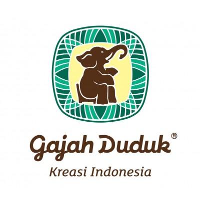 [SPECIAL DESIGN] GAJAH DUDUK BLACK & WHITE Kain Pelikat Limited Edition RANDOM INDONESIA ORI