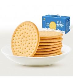 来伊份牧场牛奶饼干整箱 早餐食品小吃 独立小包装
