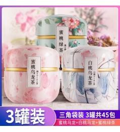 【促销3种组合 买1送2】Fruit Tea Flower Oolong 健康美颜水果茶 蜜桃乌龙茶 白桃乌龙茶 蜜桃绿茶 3个口味