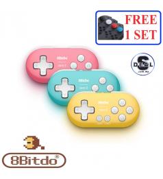 [8Bitdo] Zero 2 Original Bluetooth Wireless Gamepad Game Controller For Nintendo Switch Raspberry PI Steam Windows Android macOS