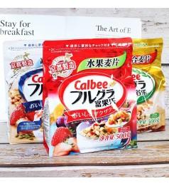 [2021 NEW Calbee]卡乐水果味冲饮即食营养早餐燕麦片500g / Calbee breakfast fruit cereal 500g per pack