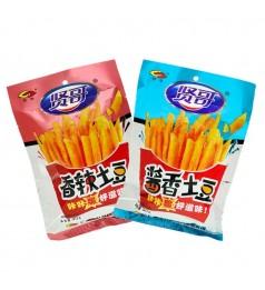 贤哥 香辣土豆/酱香土豆/咔咔脆好滋味/薯条/休闲零食 XIAN GE Spicy Potatoes/Sauce Potatoes/French fries 90g