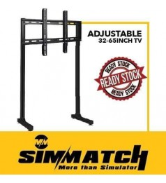 Simmatch Aluminium Profile TV Stand & Rack 32 Inch to 65 Inch Flexible Vesa Mount Single & Triple Screen Sim Racing