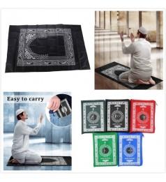 【MURAH READY STOCK】Sejadah Muslim Portable Pocket Travel Prayer Pad With Compass Waterproof Carpet