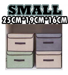 Small Storage Box Foldable Wardrobe Linen Storage Box Clothes Organizer