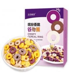 【新品】低脂缤纷圈 谷物圈即食早餐泡牛奶紫薯圈玉米片燕麦片圈代餐