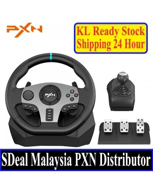 [PC & ALL CONSOLE]PXN V9 GAME STEERING WHEEL FOR PC PS3 PS4 NS SWITCH GAMING CONTROLLER USB VIBRATION DUAL MOTOR