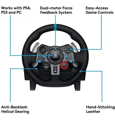 [Local Warranty Set]Logitech Dual-Motor Feedback Driving Force G29 Gaming Racing Wheel with Responsive Pedals for PC PS3 PS4