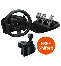 [Local Warranty Set]Logitech Dual-Motor Feedback Driving Force G923 Gaming Racing Wheel with Responsive Pedals for PC PS3 PS4