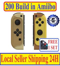 [Build in 200 Amiibo] JYS Amiibo Joycon for Nintendo Switch & Switch lite 10 Hour Battery life
