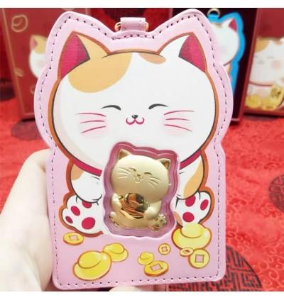 Hello Kitty KT猫足金牌  AND 足金招财猫小金牌卡套