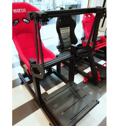 [Latest] Premier Classic Rig Matt Black Sim Racing RIG High-end aluminum profile 4080