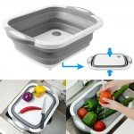 Multifunction 3 IN 1 Foldable Sink Cutting Board Drain Basket Chopping Board