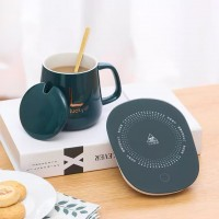 [New Version keep Warm] Gift Box Warm Plate Glass Ceramic 12 Hour Sustain 55 Degrees Thermostat Coaster Plate