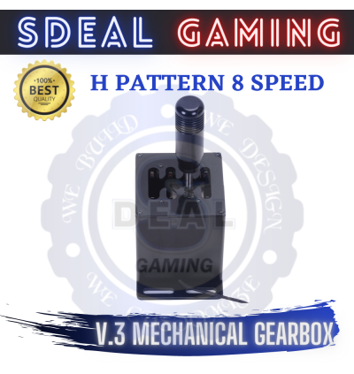 [2 IN 1] SD V.3 MECHANICAL SEQ + H PATTERN 8 SPEED SHIFTER SIM RACING PC SUPPORT