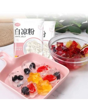 白凉粉粉儿家用儿童食用做果冻自制正品 WHITE JELLY POWDER 白涼粉 100G