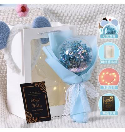 Ready Stock anniversary gift full of stars bouquet acrylic Bobo ball finished eternal flower birthday 情人节教师节纪念日礼物