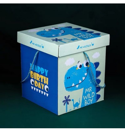 Korea Square Gift Box DIY Foldable Gift Box Bouquet Box Flower Box 礼物盒 收纳盒