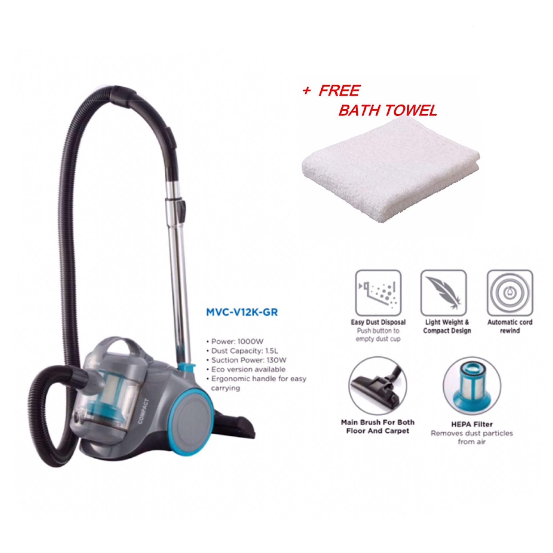 Midea BagLess Hepa Filter 1000W Vacuum Cleaner Grey MVC-V12K-GR
